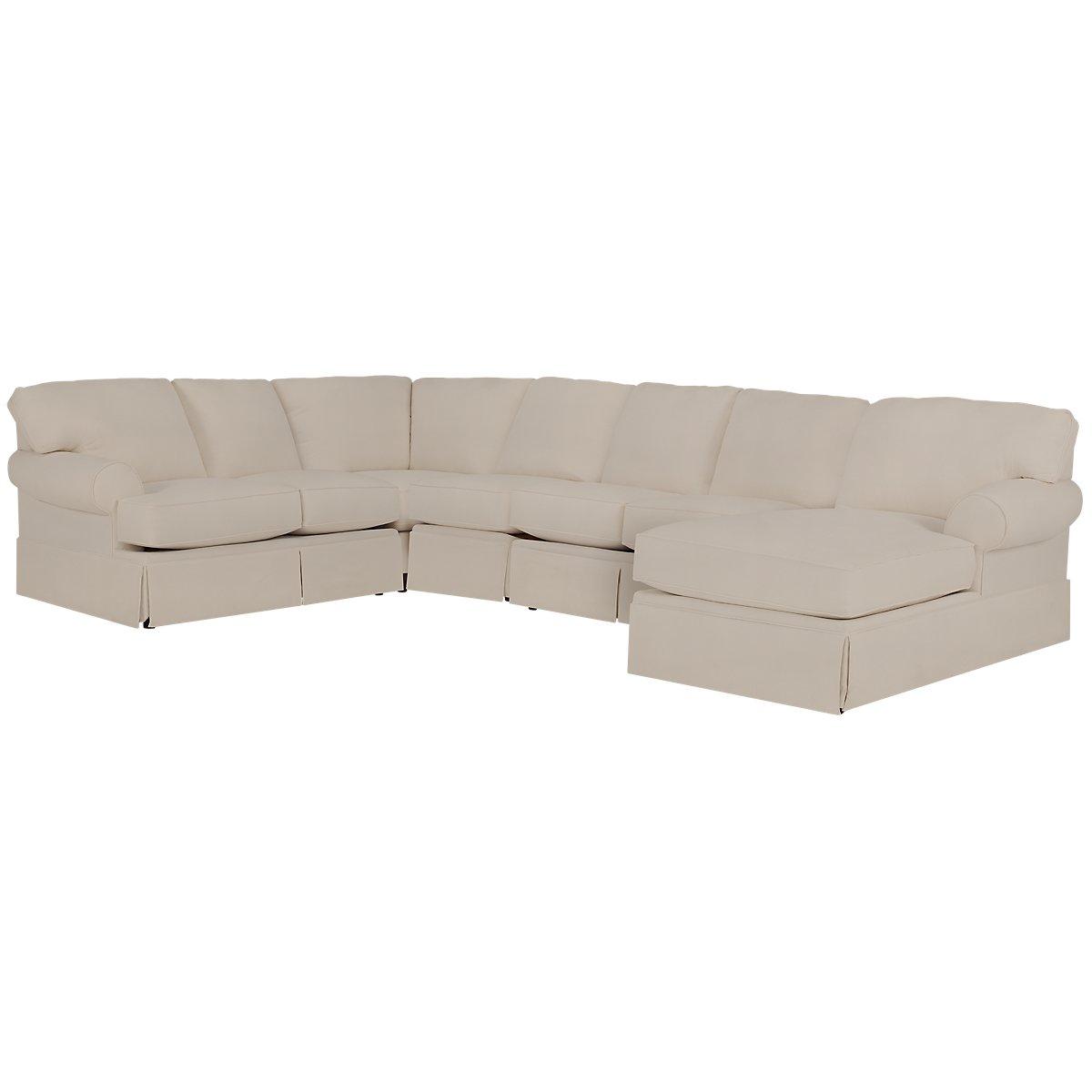 City furniture turner khaki fabric large right chaise for Chaise kaki