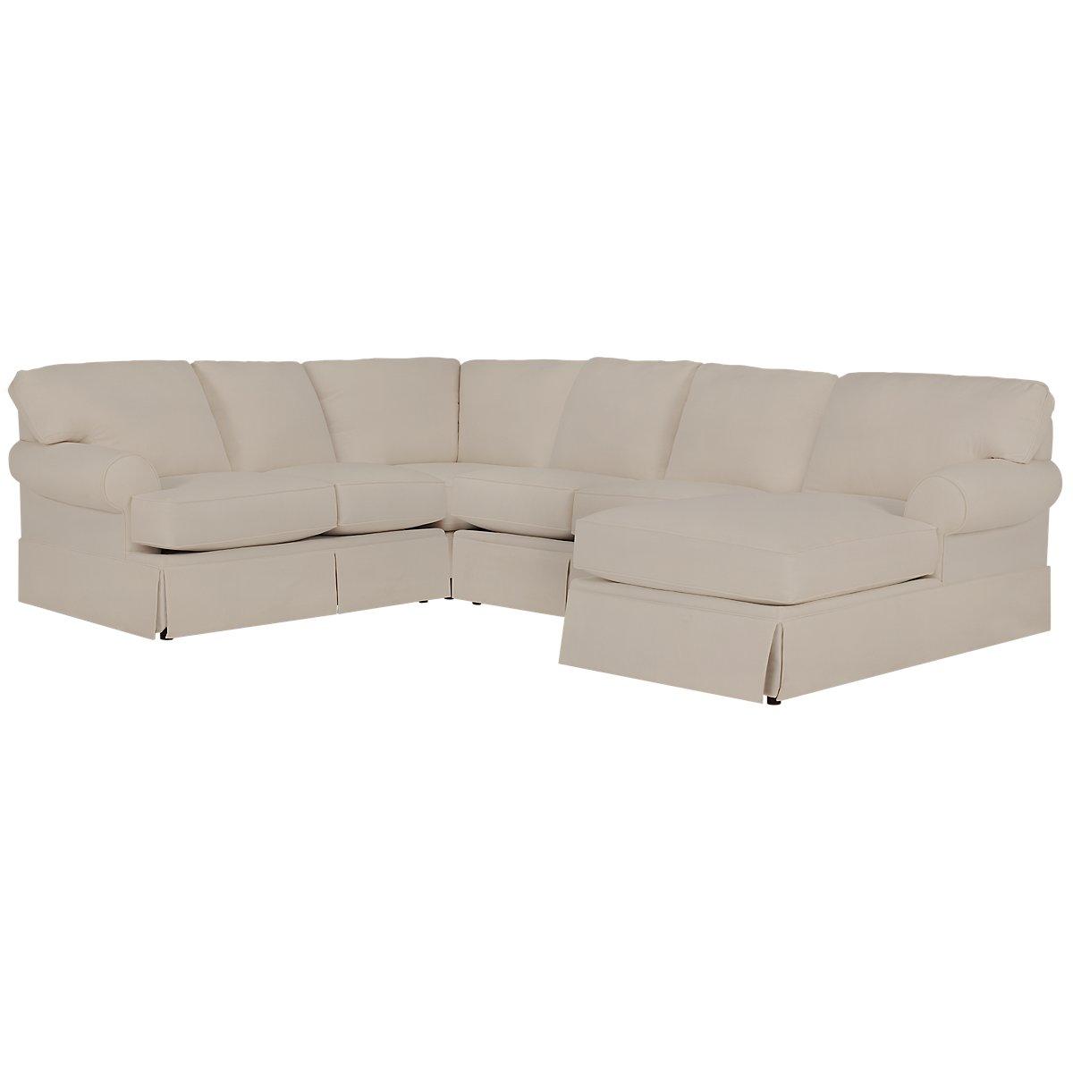 City furniture turner khaki fabric medium right chaise for Chaise kaki