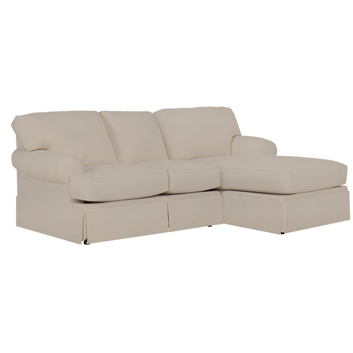 City furniture turner khaki fabric right chaise sectional for Chaise kaki