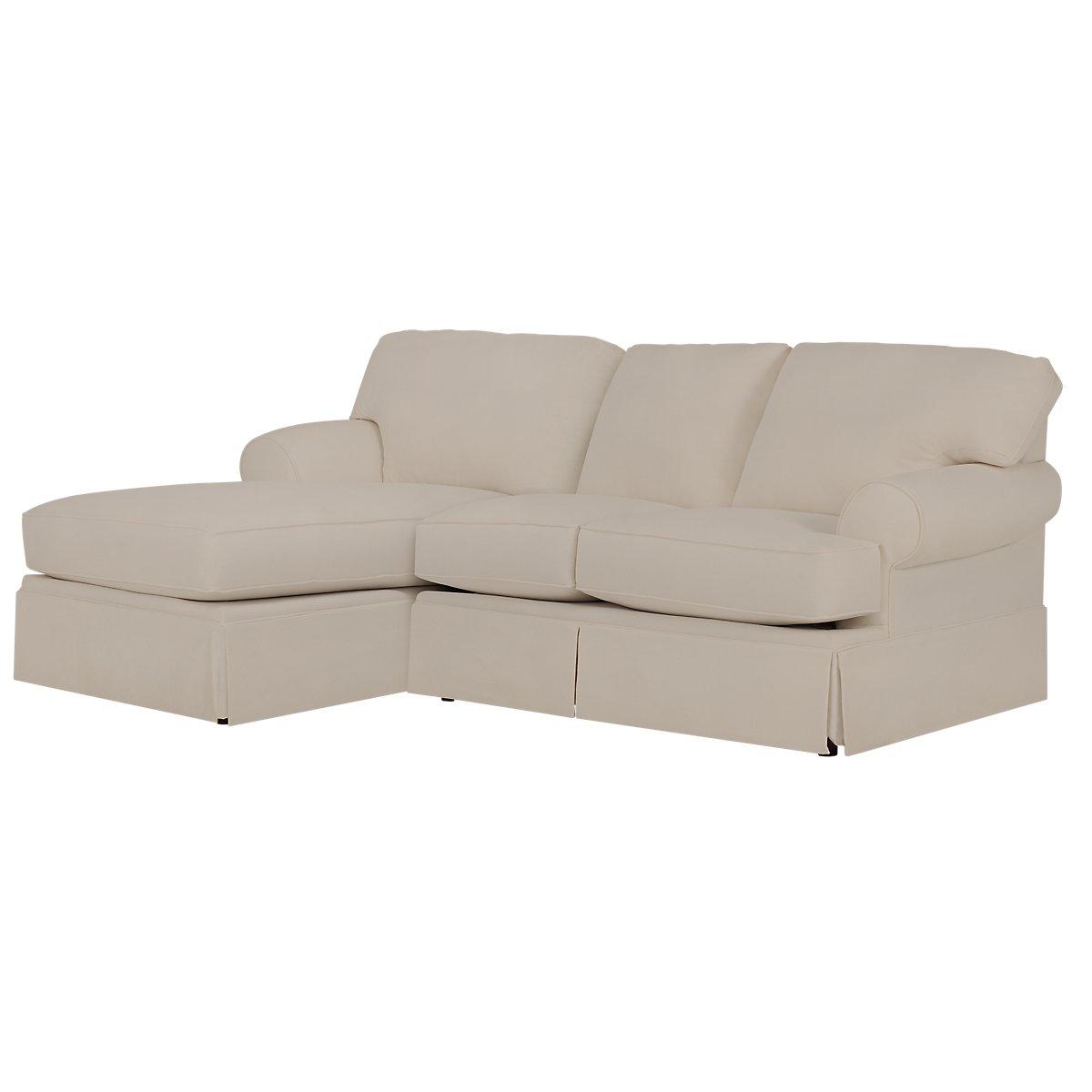 City furniture turner khaki fabric left chaise sectional for Chaise kaki
