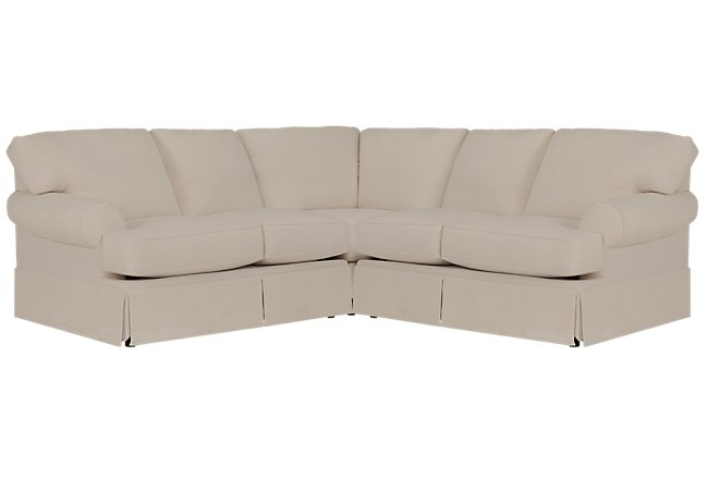 Turner Khaki Fabric Small Two-Arm Sectional