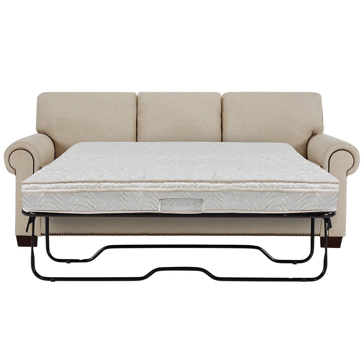 City Furniture Foster Khaki Fabric Innerspring Sleeper