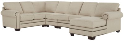 Foster Khaki Fabric Large Right Chaise Sectional  sc 1 st  City Furniture : right chaise sectional - Sectionals, Sofas & Couches