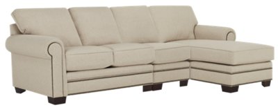 Foster Khaki Fabric Right Chaise Sectional  sc 1 st  City Furniture : right chaise sectional - Sectionals, Sofas & Couches