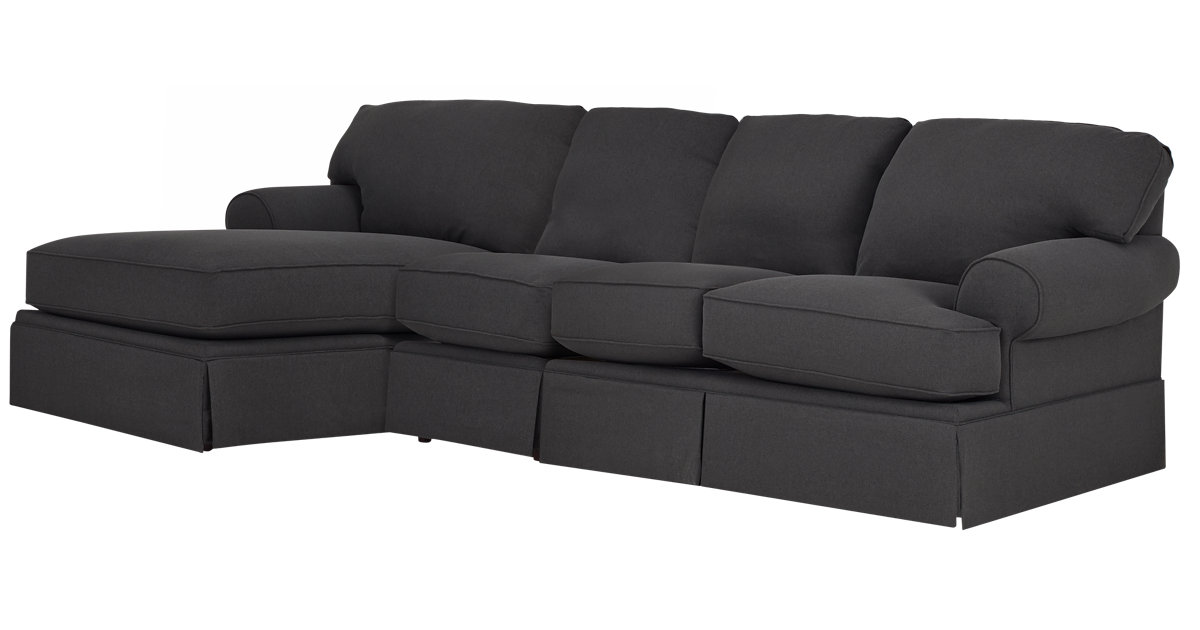City Furniture Turner Gray Fabric Small Left Chaise Sectional