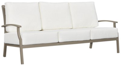 Raleigh White Aluminum Sofa. VIEW LARGER