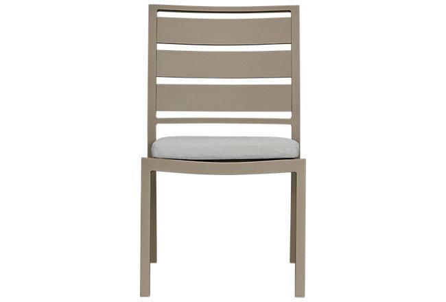 Raleigh Gray Aluminum Side Chair