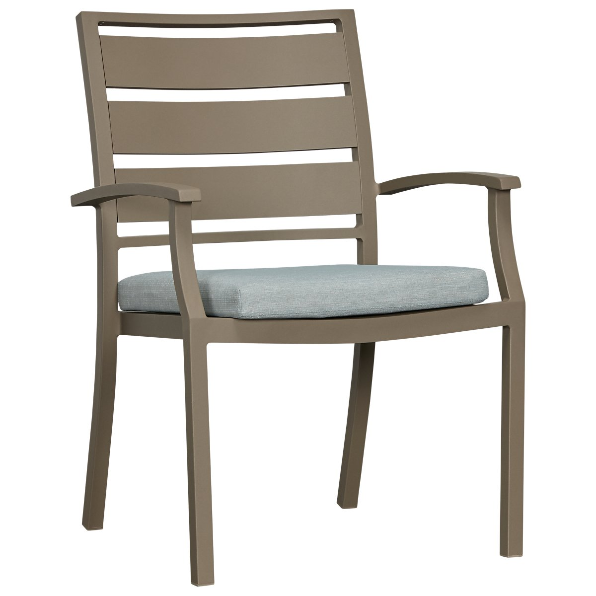 Raleigh Teal Aluminum Arm Chair | Outdoor - Dining Chairs ...