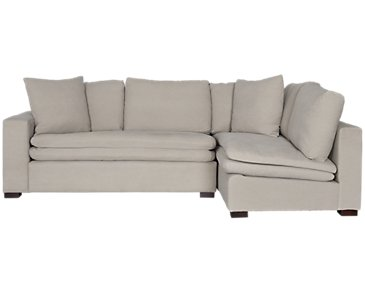 Pompey Pewter Fabric Right Chaise Sectional