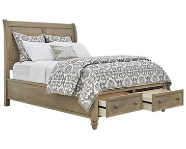 Tahiti Light Tone Panel Storage Bed