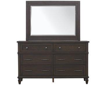Tahiti Dark Tone Dresser & Mirror