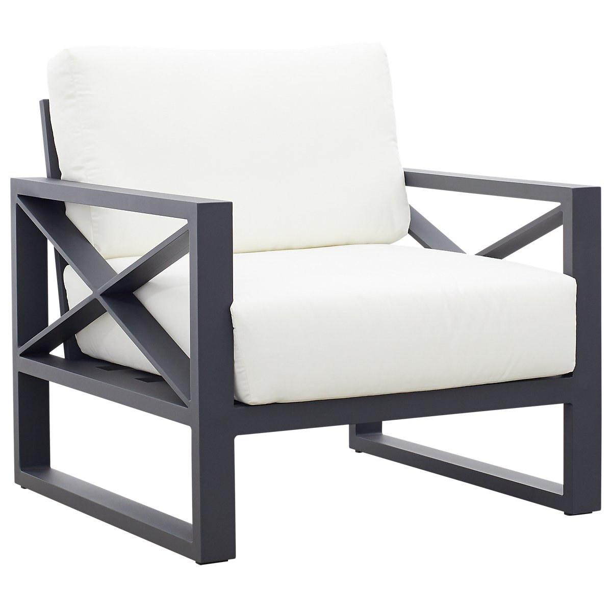 Linear White Aluminum Chair