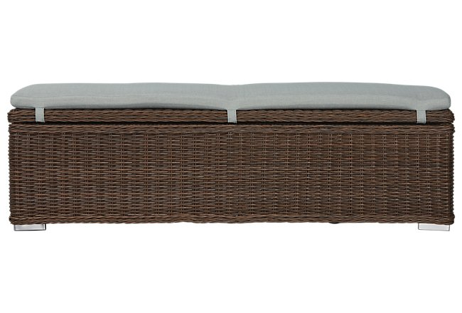 Southport Teal Woven Dining Bench