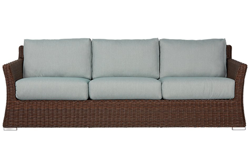 Southport Teal Woven Sofa | Outdoor - Sofas | City Furniture