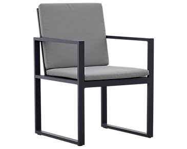 Linear Dark Gray Arm Chair