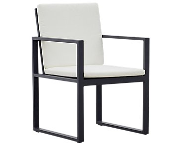 Linear White Arm Chair