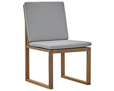 Linear Teak Dark Gray Side Chair
