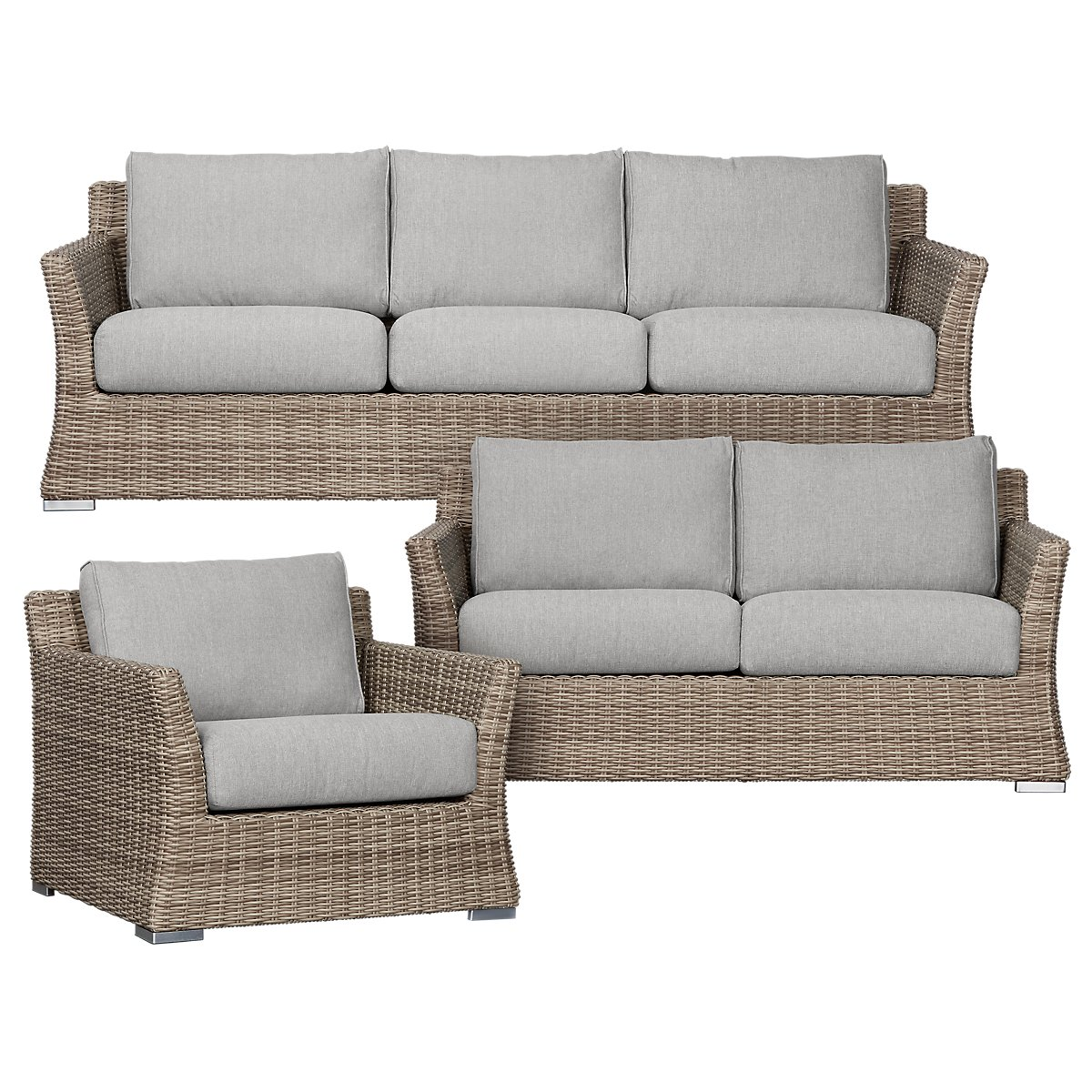 City furniture raleigh gray woven outdoor living room set for Living room furniture sets raleigh nc