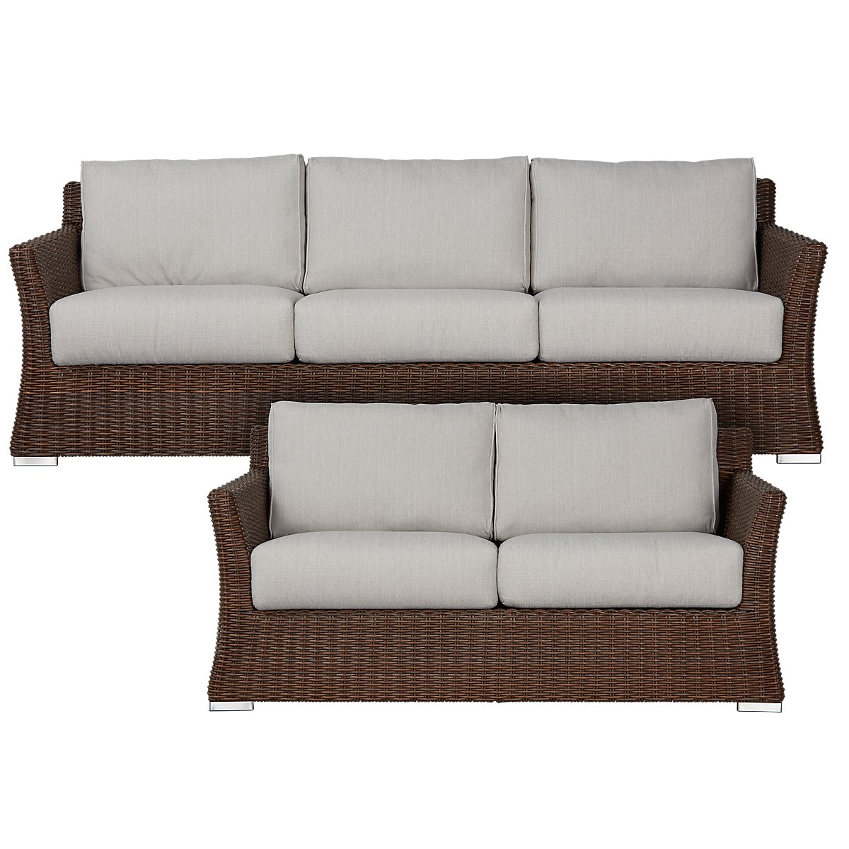 City Furniture: Southport Gray Woven Outdoor Living Room Set