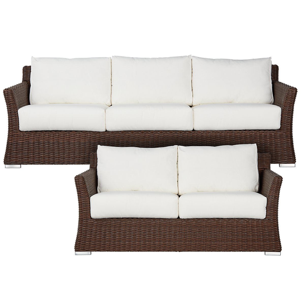 City Furniture: Southport White Woven Outdoor Living Room Set