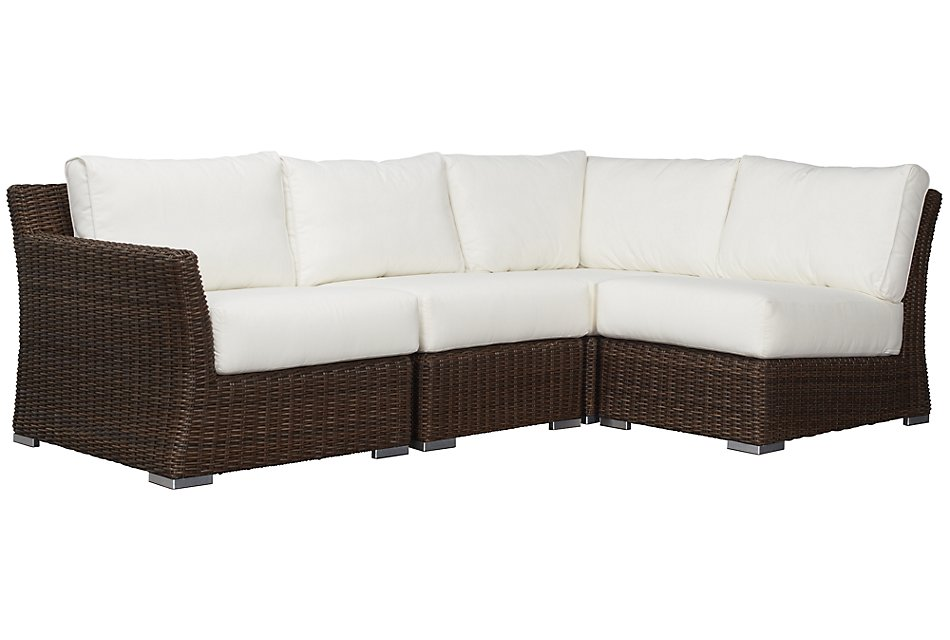 Southport WHITE LEFT 4-Piece Modular Sectional
