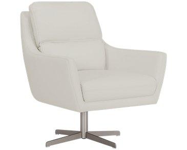 Francisco Light Gray Microfiber Swivel Accent Chair