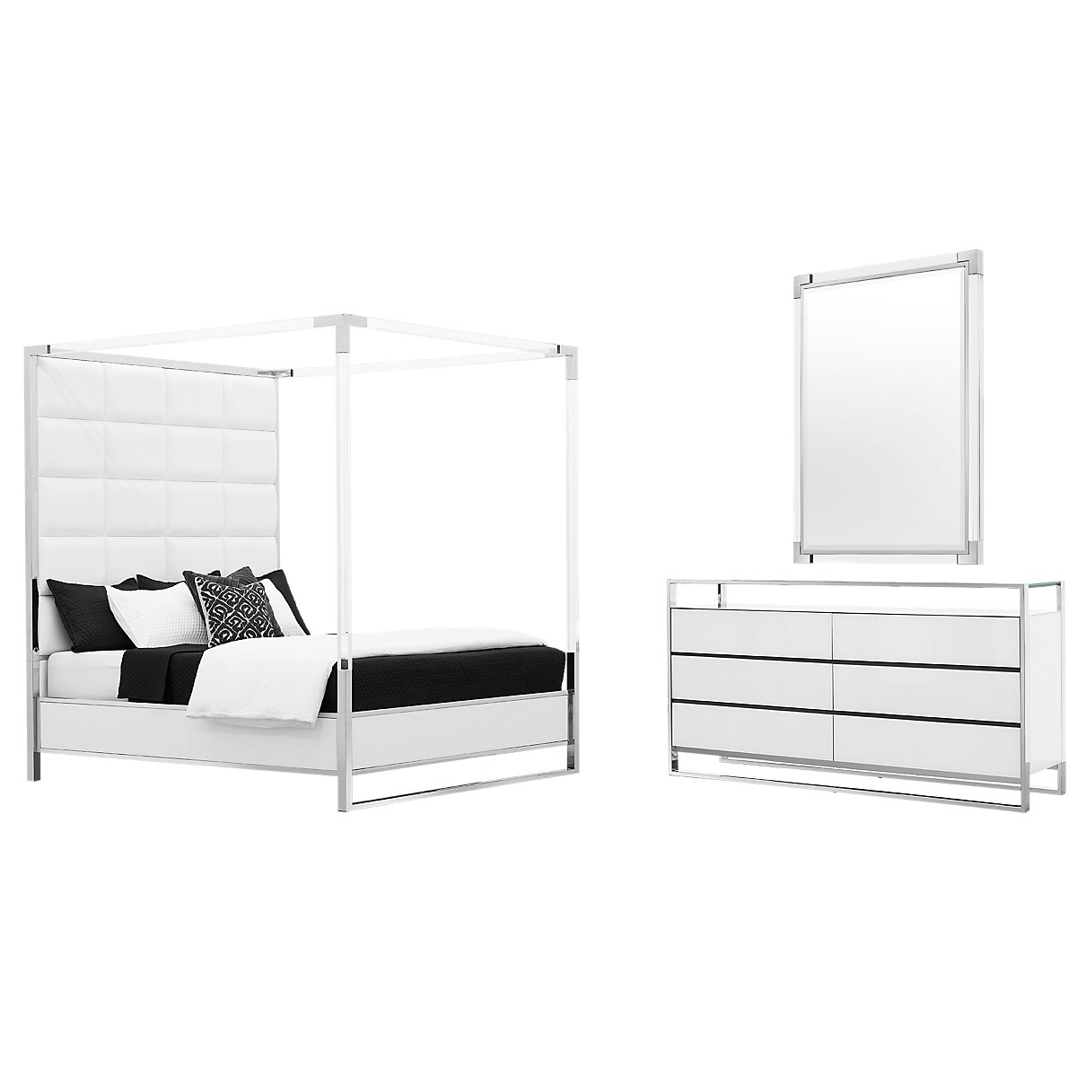 State Street White Metal Canopy Bedroom | Bedroom - Bedroom Sets ...