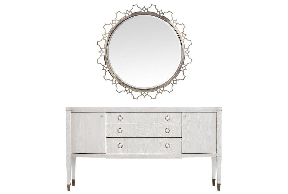 Domaine Metal Round Sideboard & Mirror