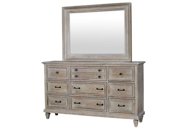 Sonoma Light Tone Wood Dresser & Mirror