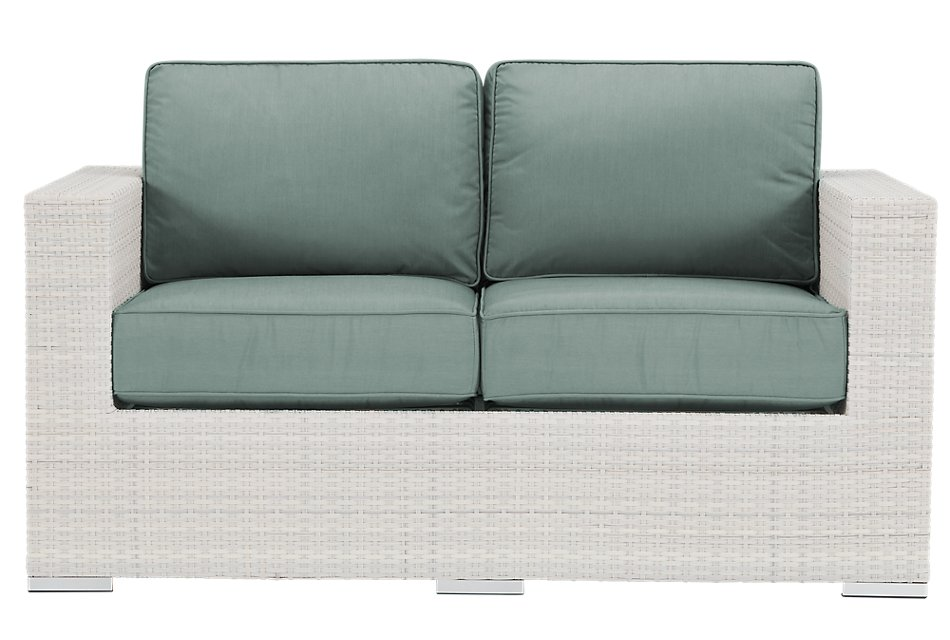 Biscayne Teal  Loveseat