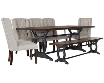 City Furniture Whistler Dark Tone Rectangular Table