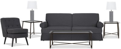 Owen Dark Gray 7 Piece Living Room Package Part 30