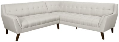 Brentwood Light Beige Fabric Two Arm Sectional