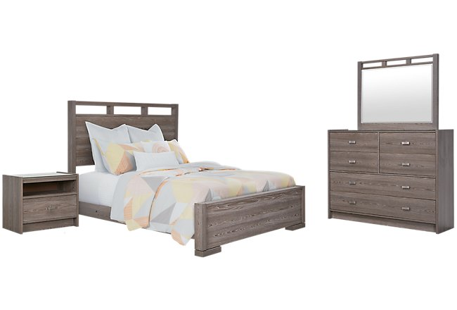 Sutton Light Tone Wood Panel Bedroom