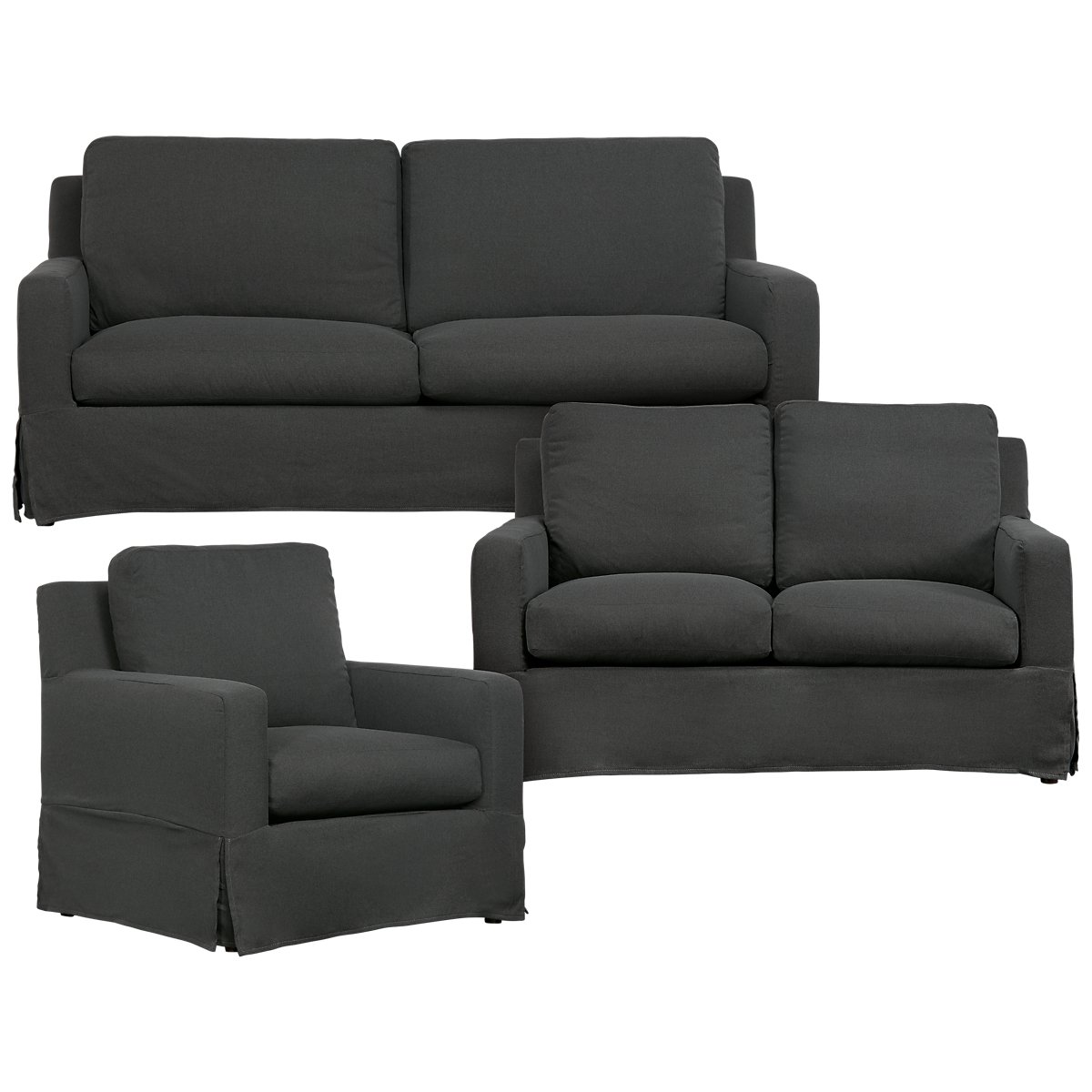 Bree Gray Fabric Living Room Sets City Furniture