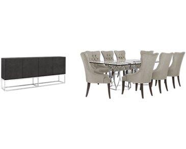 Argent Light Gray Rectangular Dining Room