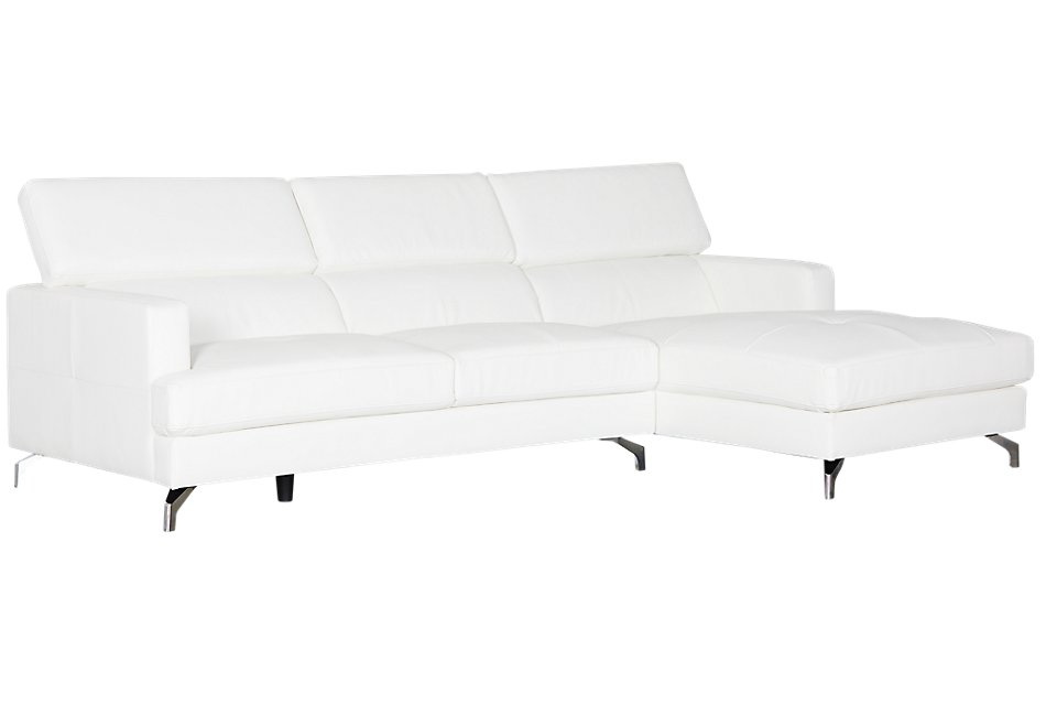 Marquez WHITE MICRO Right Chaise Sectional
