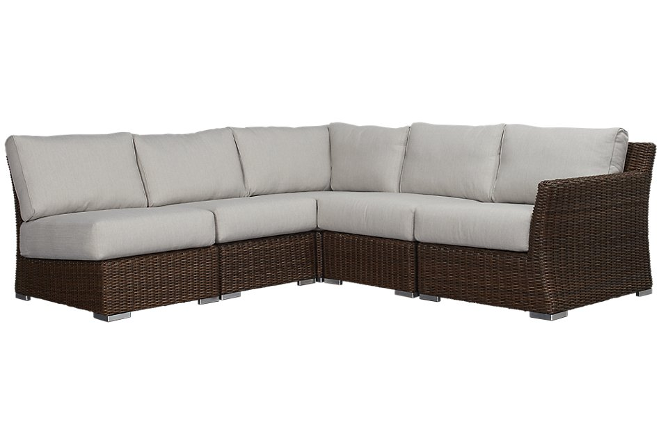 Southport GRAY RIGHT 5-Piece Modular Sectional