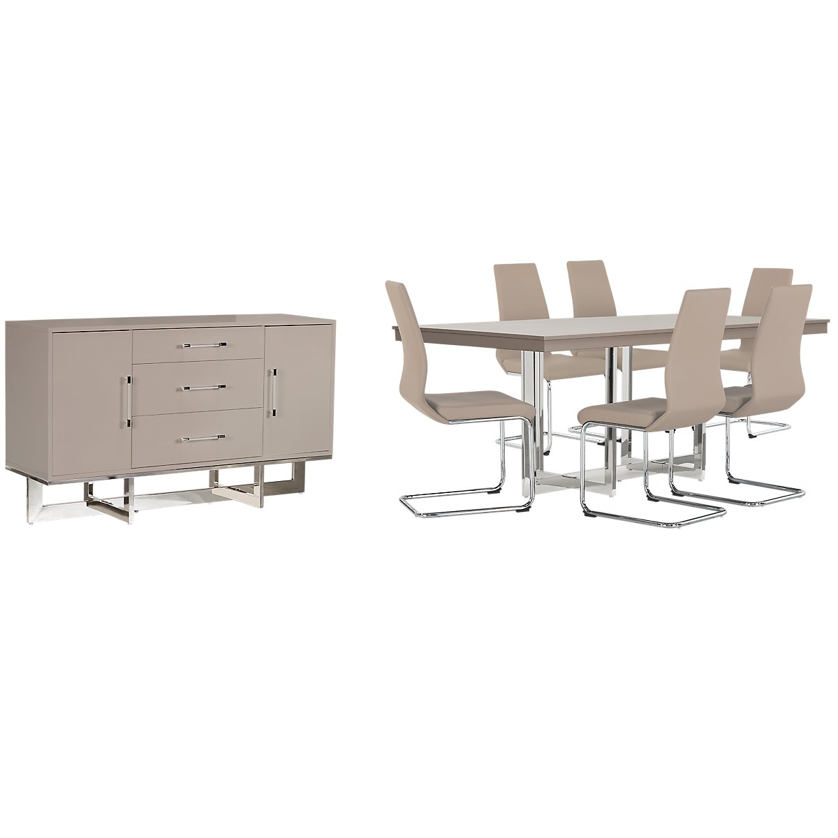 Champagne Dining Room Furniture: Cortina Champagne Dining Room