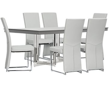 Cortina Gray Table & 4 Chairs