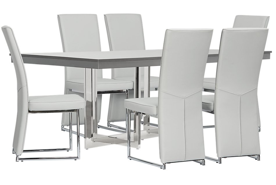 Cortina Gray Table & 4 Chairs | Dining Room - Dining Sets ...