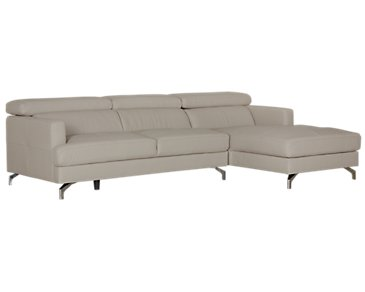 Marquez Gray Microfiber Right Chaise Sectional