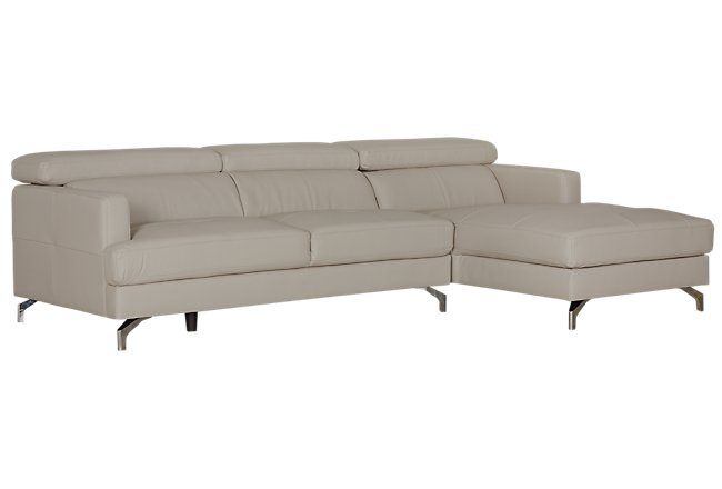 Marquez Taupe Micro Right Chaise Sectional