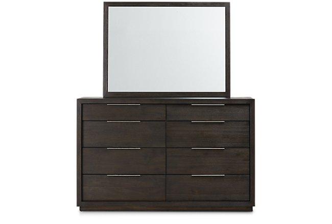 Madden Dark Tone Wood Dresser & Mirror