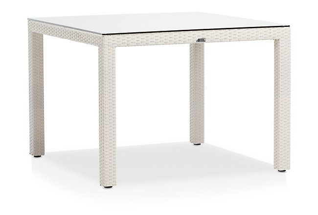Bahia White Square Table