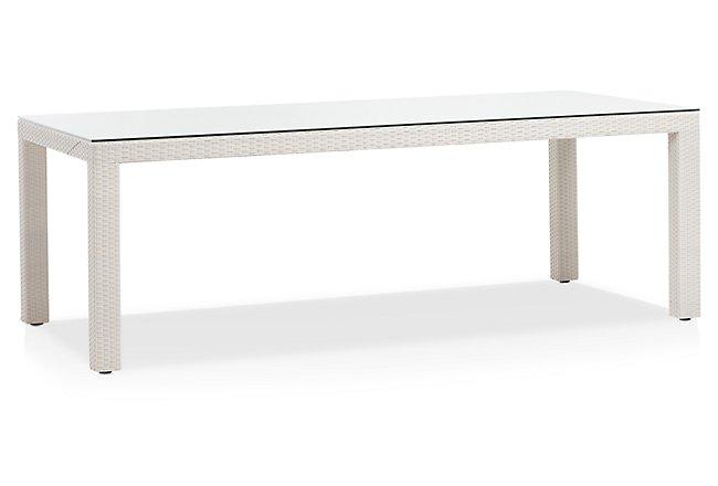 Bahia White Rectangular Table