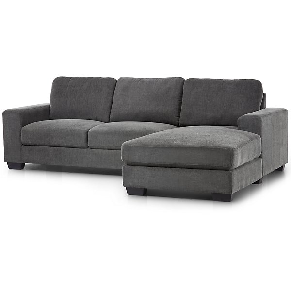 Image Of Estelle Dark Gray Fabric Right Chaise Sectional With Sku 9714814