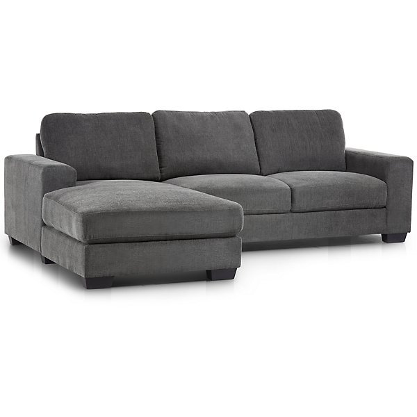 Image Of Estelle Dark Gray Fabric Left Chaise Sectional With Sku 9714815