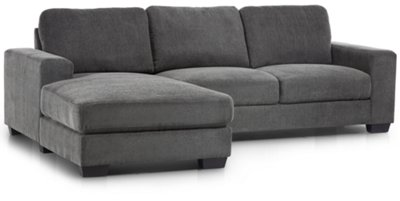 Charmant Image Of Estelle Dark Gray Fabric Left Chaise Sectional With Sku:9714815