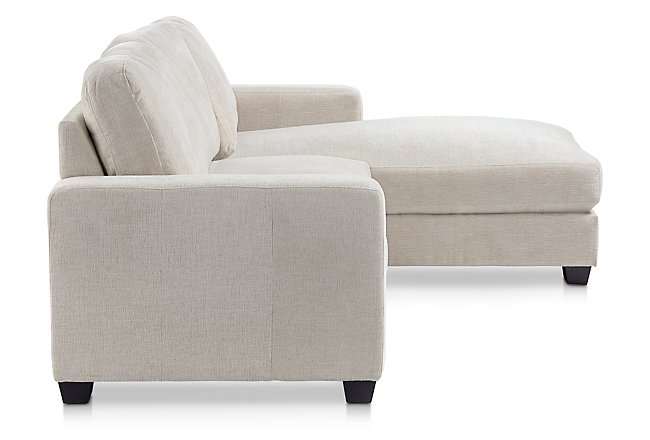 Estelle Beige Fabric Right Chaise Sectional